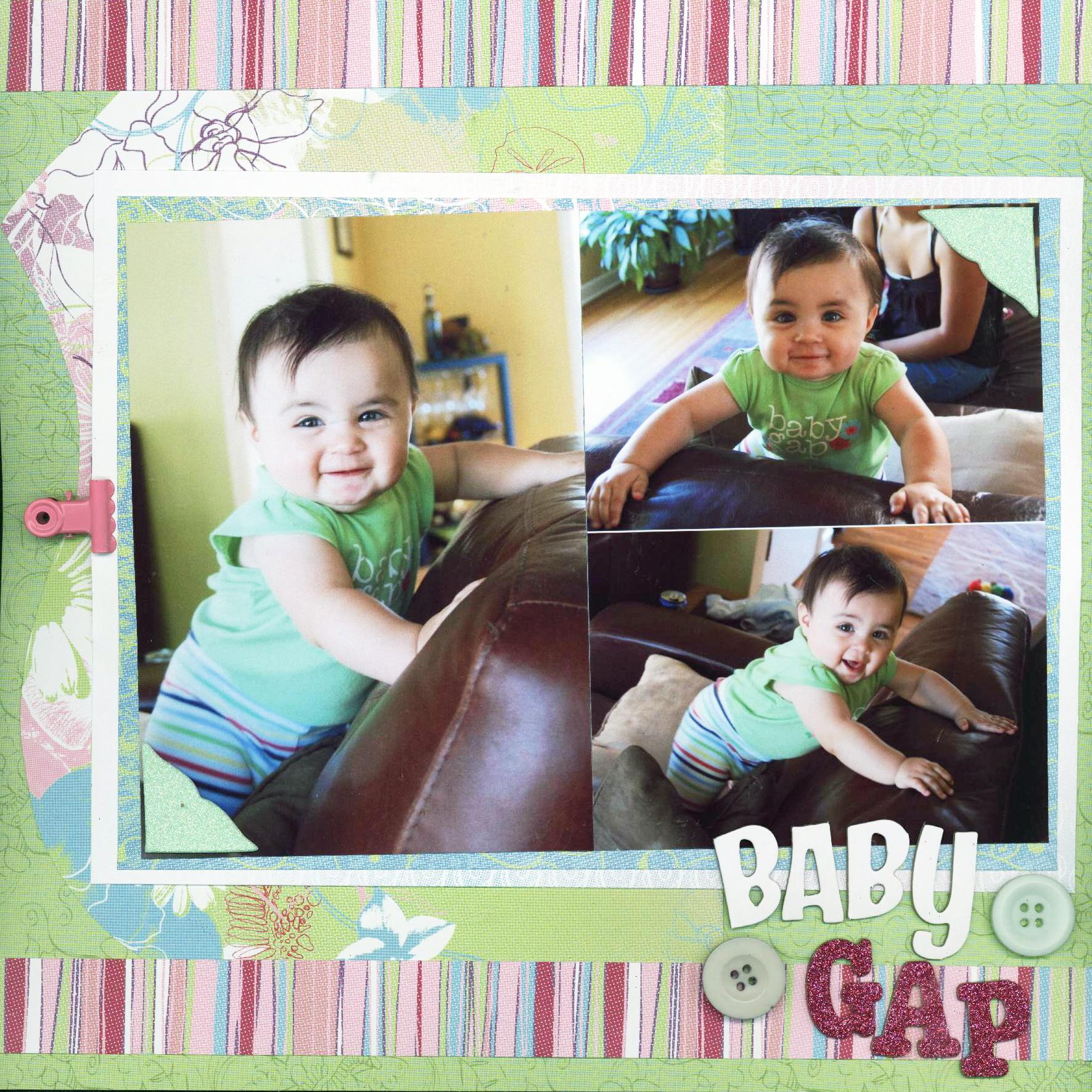 Baby scrapbook page ideas - Scrapbook Idea Scrapbooking Page Ideas Baby Gap