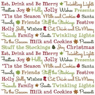 Holiday Christmas Words 12x12 Vellum - American Traditional Designs ...