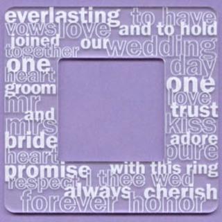 Go West - Acrylic 4x4 Frame - Overstated Wedding - Go West Studios