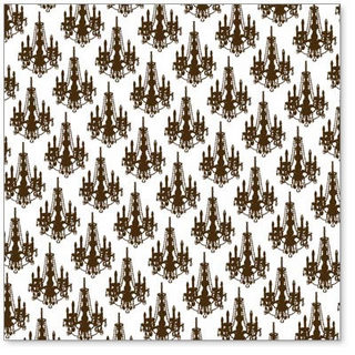 Hambly Studios - Mini Chandelier Overlay - Brown