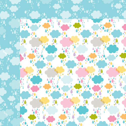 Bella Blvd - Simply Spring Collection - 12 x 12 Double Sided Paper - Dancing in the Rain