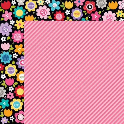 Bella Blvd - Color Chaos Collection - 12 x 12 Double Sided Paper - Punch Strandz