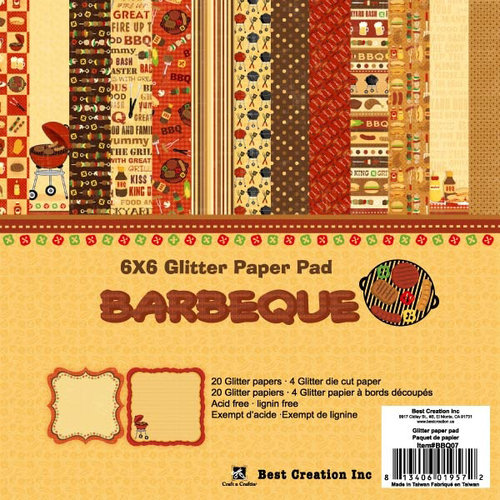 Best Creation Inc Barbeque Collection 6 X 6 Glittered Paper Pad