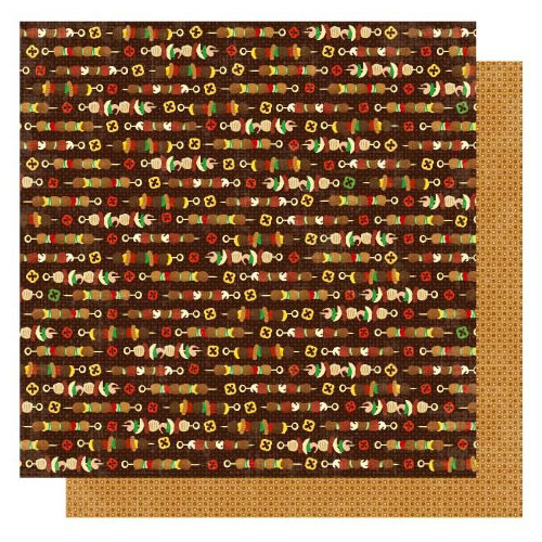 Best Creation Inc - Barbeque Collection - 12 x 12 Double Sided Glitter Paper - Grill Master