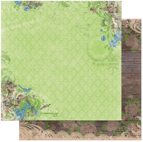 Bo Bunny - Prairie Chic Collection - 12 x 12 Double Sided Paper - Garden