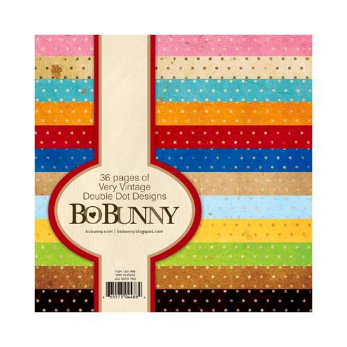 Bo Bunny - Double Dot Designs Collection - 6 x 6 Paper Pad - Very Vintage
