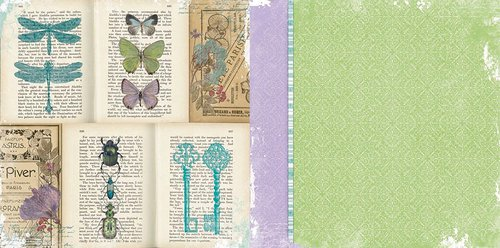 BoBunny - Enchanted Garden Collection - 12 x 12 Double Sided Paper - Periodical