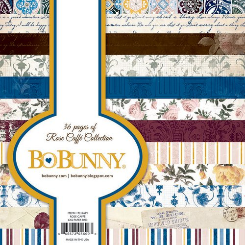 Bo Bunny - Rose Cafe Collection - 6 x 6 Paper Pad