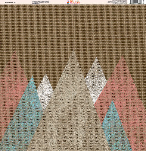 Ella and Viv Paper Company - Aztec Linen Collection - 12 x 12 Paper - Six
