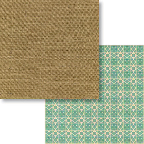 Fancy Pants Designs - Burlap and Bouquets Collection - 12 x 12 Double Sided Paper - Chic Burlap
