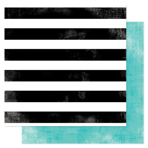Heidi Swapp - Favorite Things Collection - 12 x 12 Double Sided Paper - Seeing Stripes