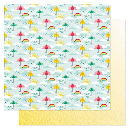 Pink Paislee - Hello Sunshine Collection - 12 x 12 Double Sided Paper - Stormy Weather