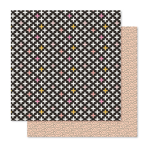 Pink Paislee - Bella Rouge Collection - 12 x 12 Double Sided Paper - Gorgeous