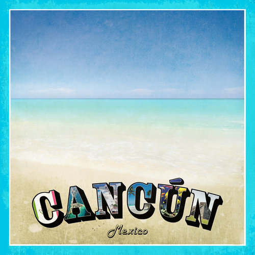 Scrapbook Customs - 12 x 12 Paper - Cancun Paradise Vintage
