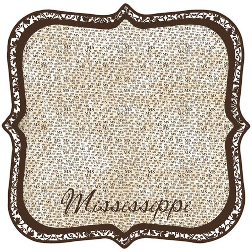 Scrapbook Customs - United States Collection - Mississippi - 12 x 12 Die Cut Paper - State Shape