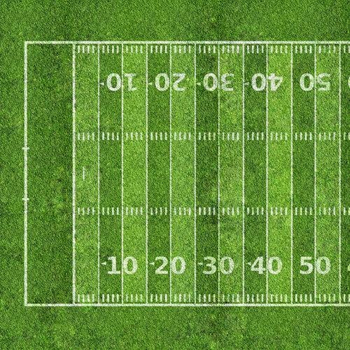 Scrapbook Customs - Sports Collection - 12 x 12 Paper - Football Field 2 - Left