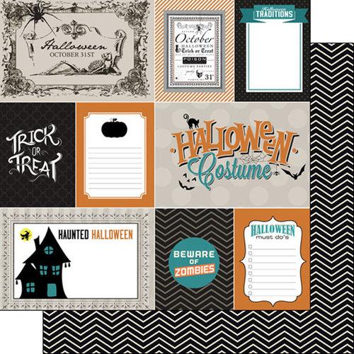 Scrapbook Customs - 12 x 12 Double Sided Paper - Halloween Journal