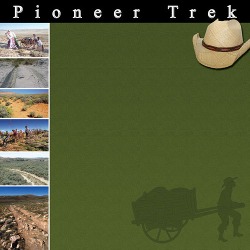 Scrapbook Customs - LDS Collection - 12 x 12 Paper - Pioneer Trek