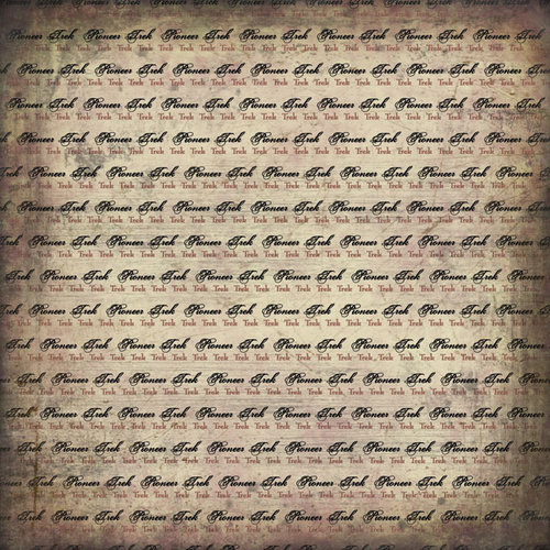 Scrapbook Customs - LDS Collection - 12 x 12 Paper - Pioneer Trek Antique - Grunge Pride