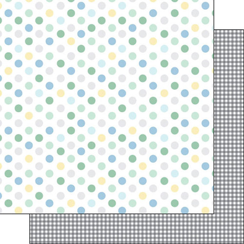 Scrapbook Customs - Baby Boy Collection - 12 x 12 Double Sided Paper - Dots