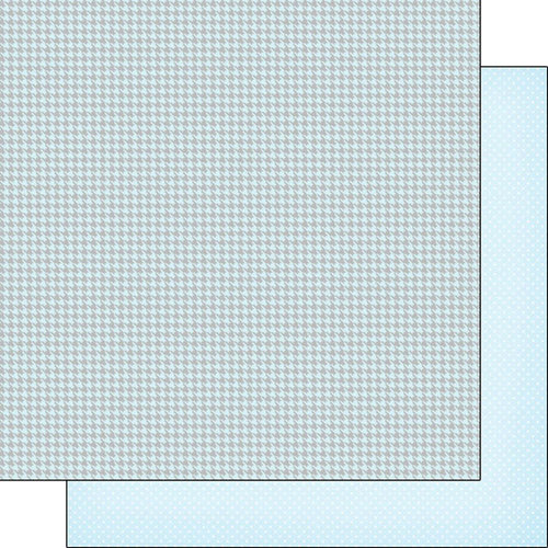 Scrapbook Customs - Baby Boy Collection - 12 x 12 Double Sided Paper - Houndstooth