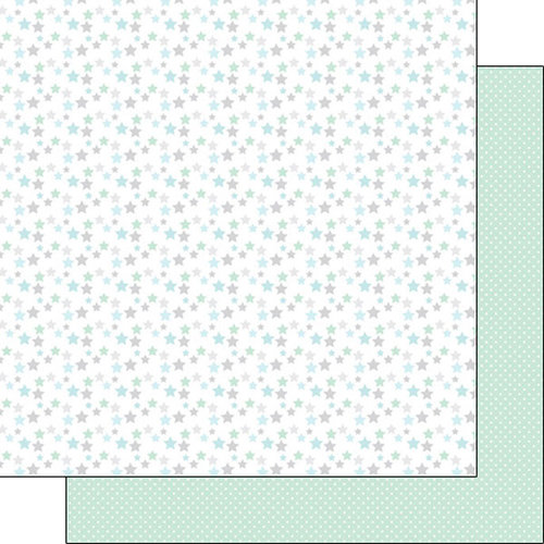 Scrapbook Customs - Baby Boy Collection - 12 x 12 Double Sided Paper - Stars
