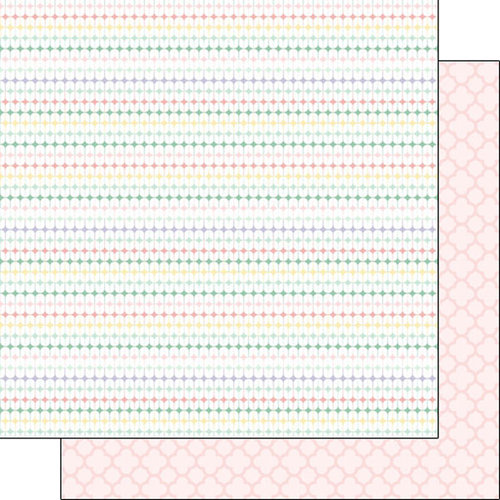 Scrapbook Customs - Baby Girl Collection - 12 x 12 Double Sided Paper - Diamonds