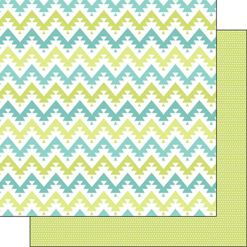 Scrapbook Customs - Tribal Collection - 12 x 12 Double Sided Paper - Chevron