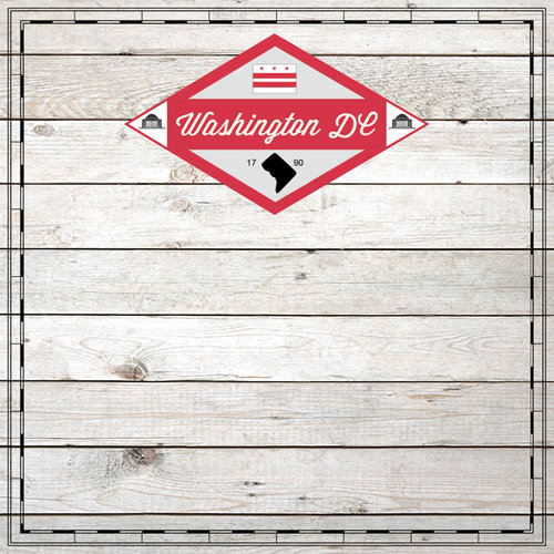 Scrapbook Customs - State Sightseeing Collection - 12 x 12 Paper - Wood - Washington DC