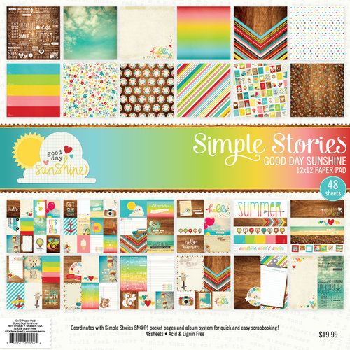Simple Stories - Good Day Sunshine Collection - 12 x 12 Paper Pad