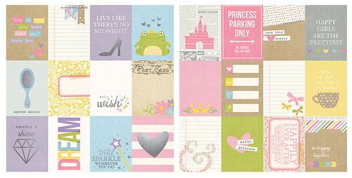 Simple Stories - Enchanted Collection - 12 x 12 Double Sided Paper with Foil Accents - 3 x 4 Journaling Card Elements