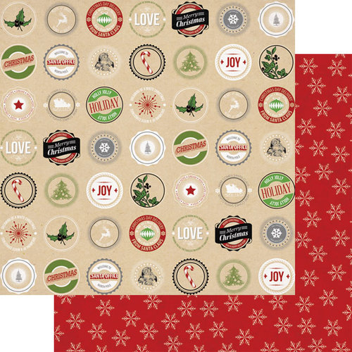 Teresa Collins Designs - Candy Cane Lane Collection - Christmas - 12 x 12 Double Sided Paper - Labels