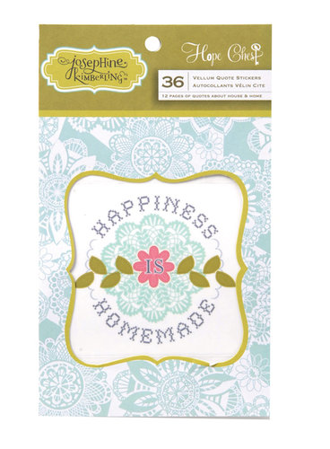 Anna Griffin - Hope Chest Collection - Vellum Quote Stickers