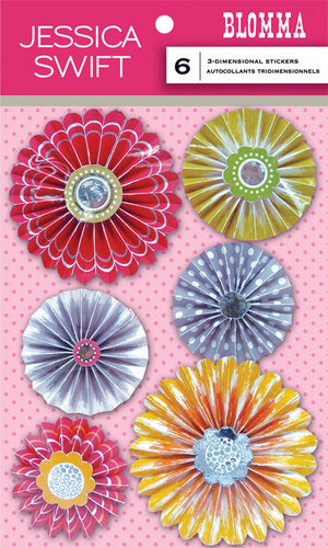 Anna Griffin - Blomma Collection - 3 Dimensional Stickers - Rosettes