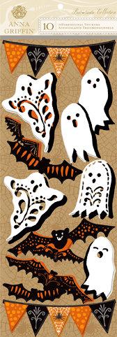 Anna Griffin - Battastic Collection - Halloween - 3 Dimensional Stickers - Art