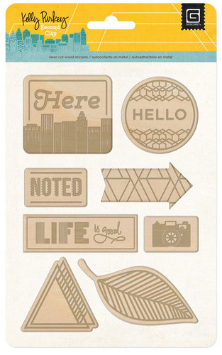 BasicGrey - Second City Collection - Laser Wood Stickers