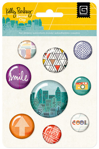 BasicGrey - Second City Collection - Flair - Adhesive Badges