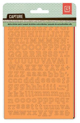 BasicGrey - Capture Collection - Cardstock Stickers - Alphabet