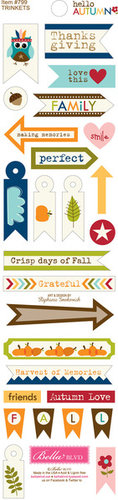 Bella Blvd - Hello Autumn Collection - Cardstock Stickers - Trinkets