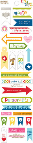 Bella Blvd - Tiny Tots Collection - Cardstock Stickers - Trinkets