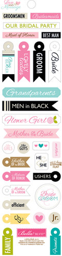 Bella Blvd - Love and Marriage Collection - Cardstock Stickers - Miniatures - The Wedding Party