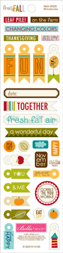 Bella Blvd - Finally Fall Collection - Cardstock Stickers - Miniatures