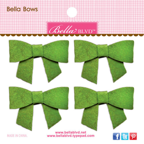 Bella Blvd - Color Chaos Collection - Bella Bows - Guacamole