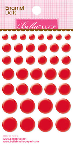 Bella Blvd - Color Chaos Collection - Enamel Stickers - Dots - McIntosh