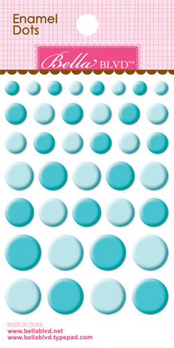 Bella Blvd - Color Chaos Collection - Enamel Stickers - Dots - Ice