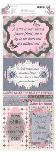 Bo Bunny - Isabella Collection - Cardstock Stickers - She