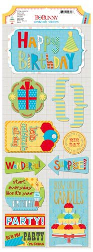Bo Bunny - Surprise Collection - Cardstock Stickers - Party Time