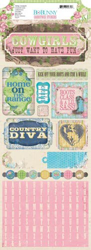 Bo Bunny - Prairie Chic Collection - Cardstock Stickers - Country Diva