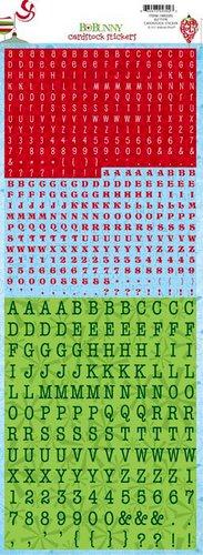 Bo Bunny - Mistletoe Collection - Christmas - Cardstock Stickers - Elf Type