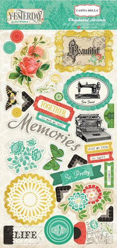 Carta Bella Paper - Yesterday Collection - Chipboard Stickers